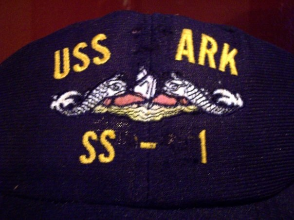 USS Shark SSN 591 hat modified to describe frustration with equipment failures