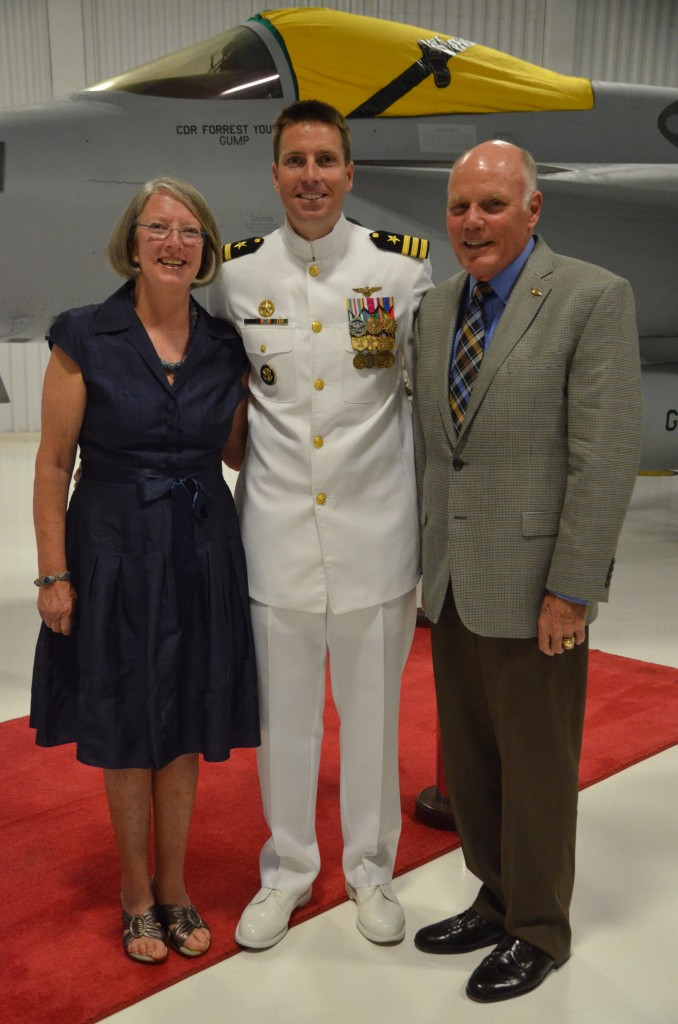 Chuck Beers and his wife and son the aviator